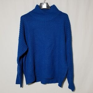 Topshop chunky blue turtleneck sweater